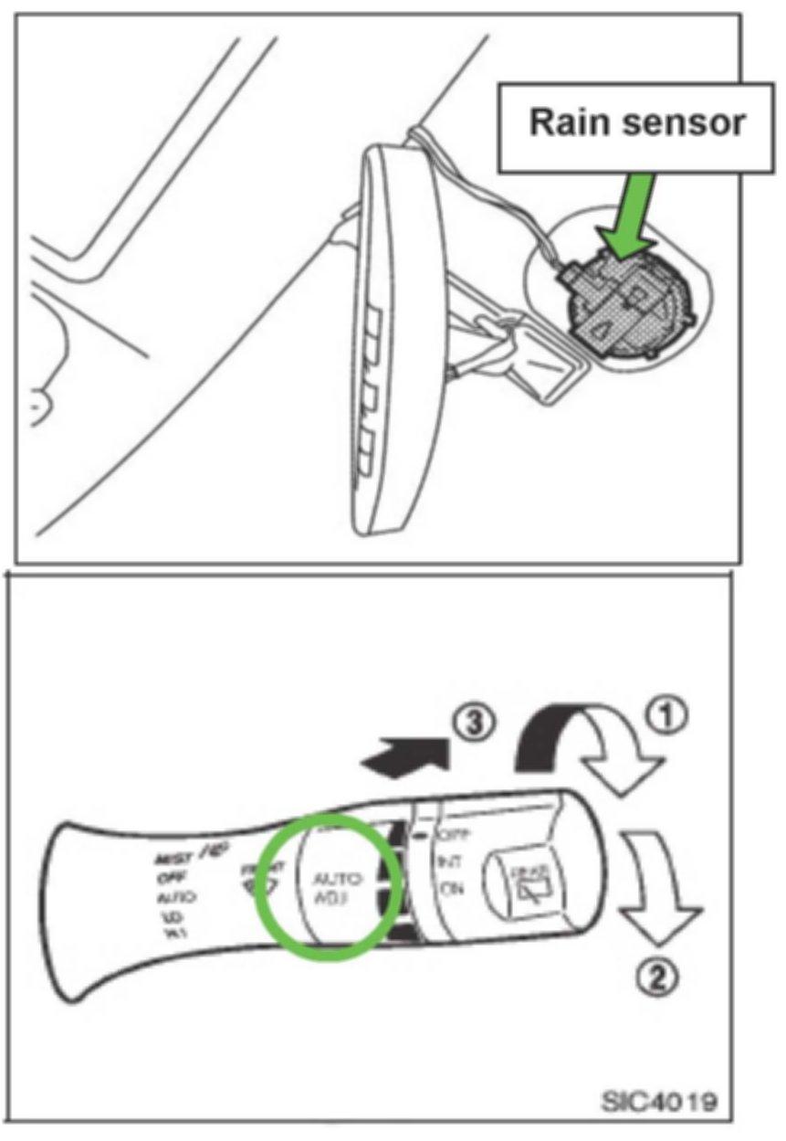 Как отключить датчик дождя 63