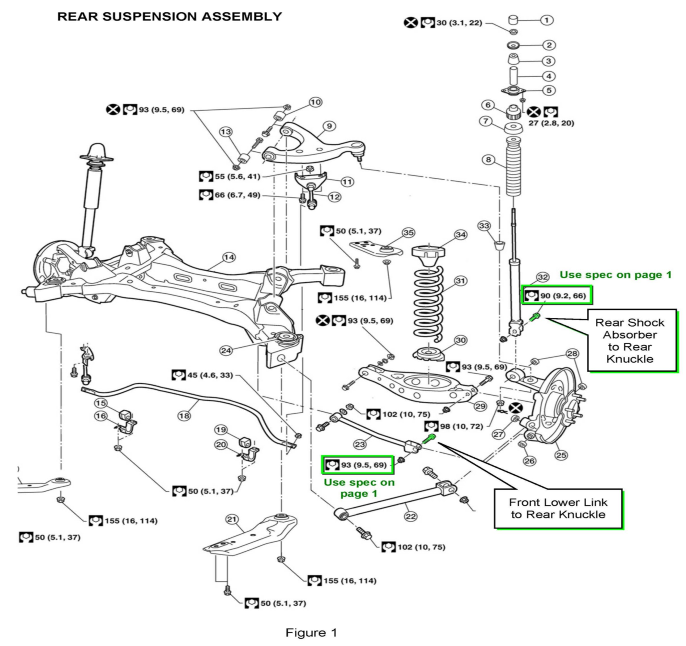 Steering Knuckle Diagram on 1993 toyota pickup suspension parts